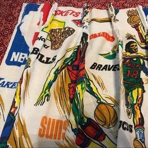 Vintage cotton NBA curtains AMAZING❤️